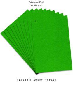 Pakke med 10 ark Playcut A4 Karton græsgrøn