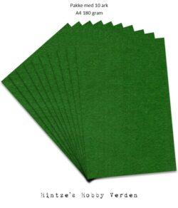 Pakke med 10 ark Playcut A4 grangrøn