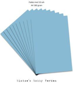 Pakke med 10 ark Playcut A4 himmelblå