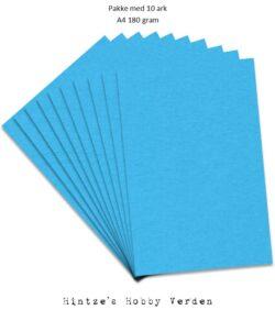 Pakke med 10 ark Playcut A4 Karton klarblå