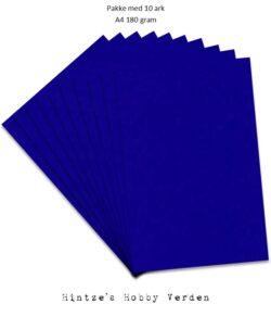 Pakke med 10 ark Playcut A4 Karton kongeblå