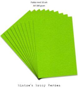 Pakke med 10 ark Playcut A4 Karton løvgrøn