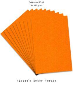 Pakke med 10 ark Playcut A4 Karton mandarin