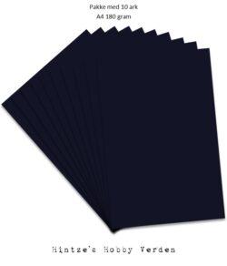 Pakke med 10 ark Playcut A4 Karton midnatsblå