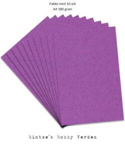 Pakke med 10 ark Playcut A4 Karton purpur