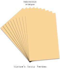 Pakke med 10 ark Playcut A4 Karton sandbrun