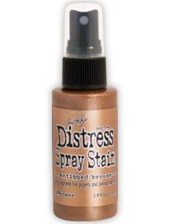 Tim Holtz distress spray stain – antiqued bronze
