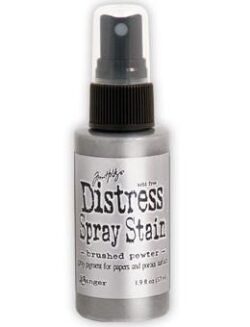 Tim Holtz distress spray stain – brushed pewter