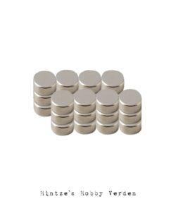 24 små kraftige magneter Ø8 mm x 1 mm
