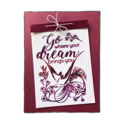 COOSA Crafts stempel – Go dream