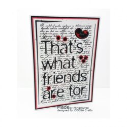 COOSA Crafts stempel – Friends