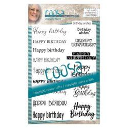 COOSA Crafts stempel – Birthday wishes