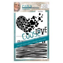 COOSA Crafts stempel – Love flow