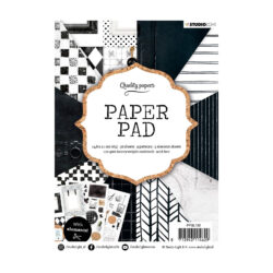 STUDIO LIGHT PAPER PAD – A5 – Black and white