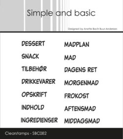 Simple and Basic stempel – Dessert