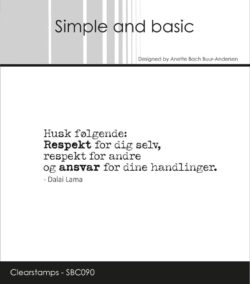 Simple and Basic stempel – Husk følgende