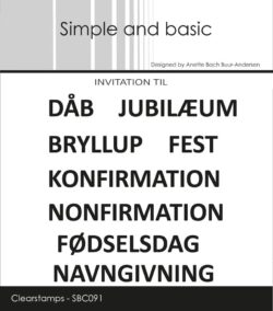 Simple and Basic stempel – Dåb