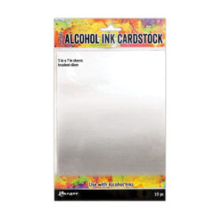 Ranger – Tim Holtz alcohol ink cardstock brushed silver