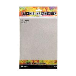 Ranger – Tim Holtz alcohol ink cardstock silver sparkle