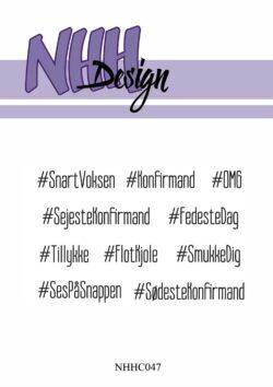 NHH Design Stempel – Tekster