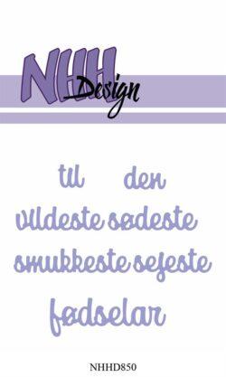 NHH Design Die – Til den…