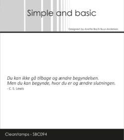 Simple and Basic stempel – Du kan ikke gå tilbage