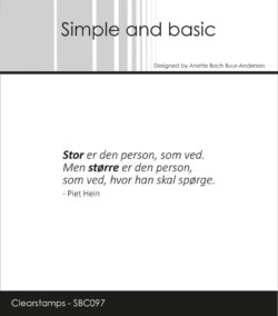 Simple and Basic stempel – Stor er den person som ved