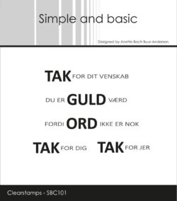 Simple and Basic stempel – Tak for dit venskab
