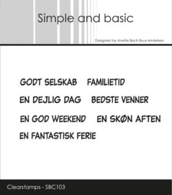 Simple and Basic stempel – Godt selskab