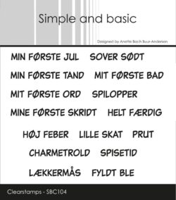 Simple and Basic stempel – Min første