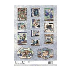 STUDIO LIGHT – Die cut paper set – Denim Saturday