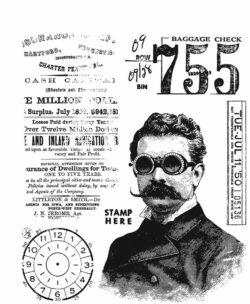Tim Holtz Stempel – The Professor 2