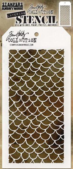 Tim Holtz Layerd Stencil – Scales