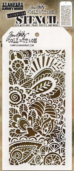 Tim Holtz Layerd Stencil – Doodle Art 1
