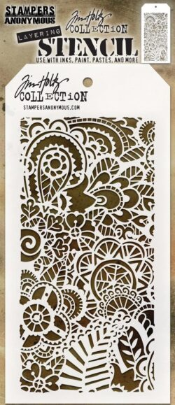 Tim Holtz Layerd Stencil – Doodle Art 2