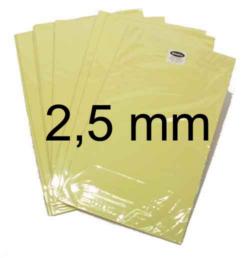 2,5 mm – Skumplader med dobbeltklæbende tape 1 ark