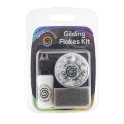 Cosmic Shimmer Gilding Flakes Kit – Silver Moon