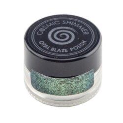 Cosmic Shimmer Opal Blaze Polish – Gilded Avocado