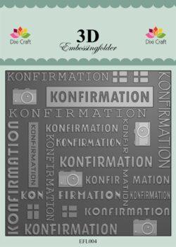 Dixi Craft 3D EMBOSSINGFOLDER – Konfirmation
