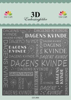 Dixi Craft 3D EMBOSSINGFOLDER – Dagens Kvinde