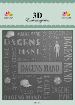 Dixi Craft 3D EMBOSSINGFOLDER – Dagens Mand