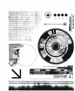 Tim Holtz Stempel – Glitch 1