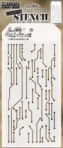 Tim Holtz Layerd Stencil – Circuit