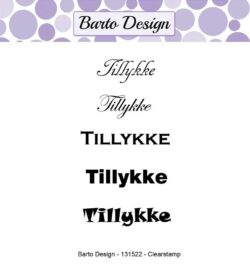 Barto Design stempel – Tillykke