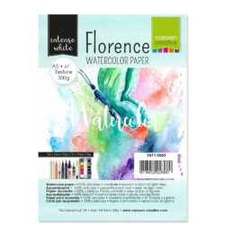 1 ark – Florence – Watercolor paper texture – Ekstra hvid – A5