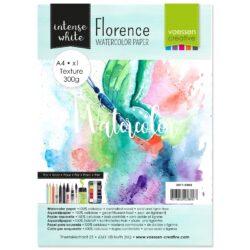 1 ark – Florence – Watercolor paper texture – Ekstra hvid – A4