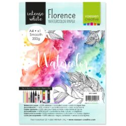 1 ark – Florence – Watercolor paper Smoth – Ekstra hvid – A4