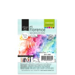 1 ark – Florence – Watercolor paper Smoth – Ekstra hvid – A6