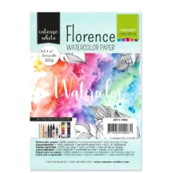 1 ark – Florence – Watercolor paper Smoth – Ekstra hvid – A5