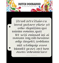 Dutch DooBaDoo Stencil – Script